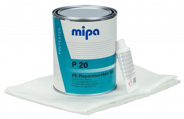 Mipa P20 Reparaturharz Glasgewebe Set